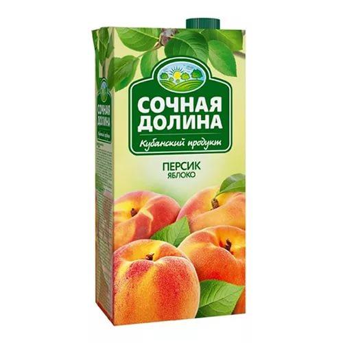 """Сок """"Сочная долина"""" персик/1 л."""