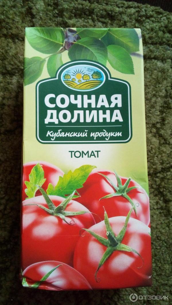 "Сок ""Сочная долина"" томат/ 1 л."