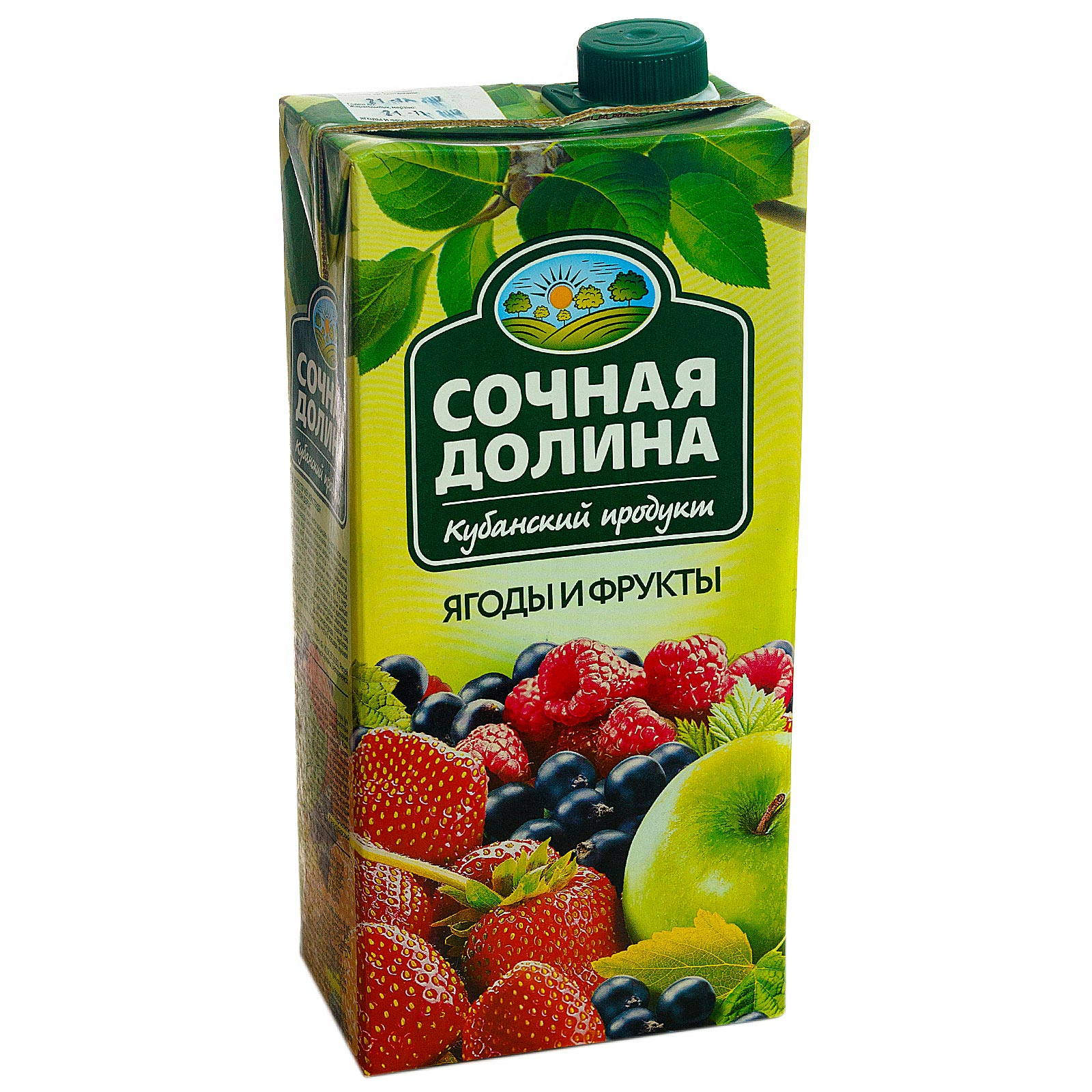 """Сок """"Сочная долина"""" ягоды фрукты/ 1 л."""